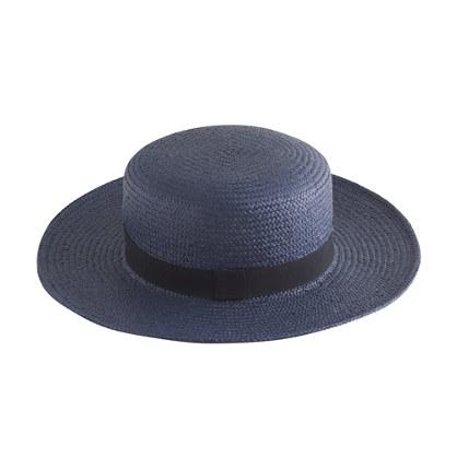 straw boater hat straw hats j crew