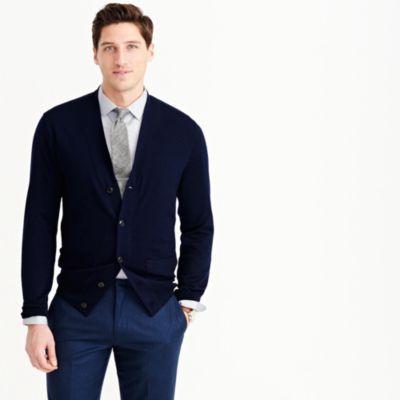Merino wool cardigan sweater