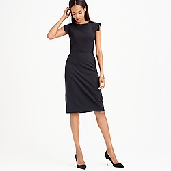 Sheath dress in Italian stretch wool
