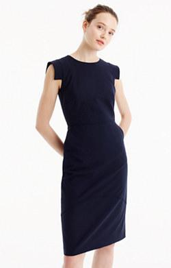 Sheath dress in Italian stretch wool