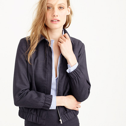 dinner hair styles refined bomber jacket in 120s wool 120s j crew 4748