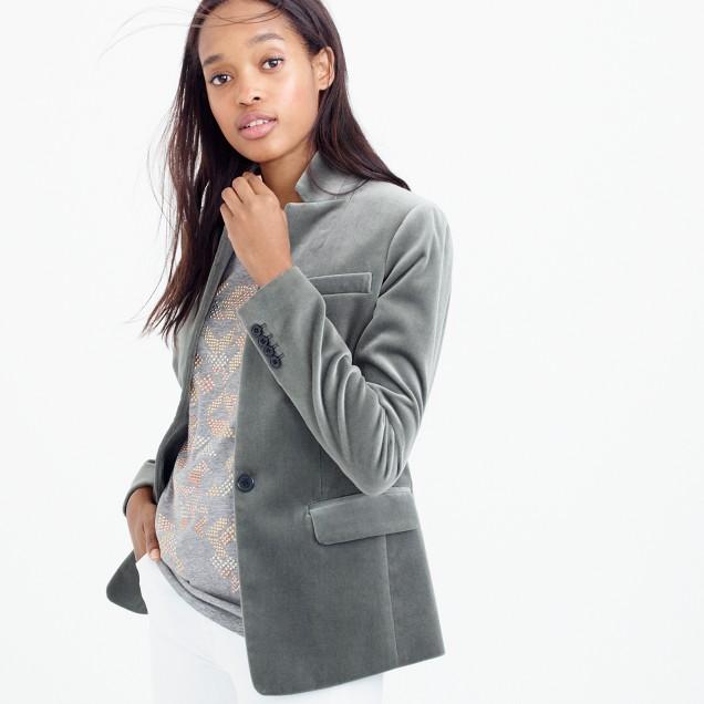 Petite Regent blazer in velvet