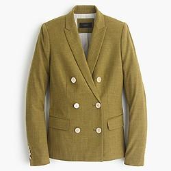 Double-breasted blazer in wool flannel