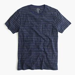 Slim flagstone pocket T-shirt in admiral stripe