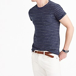 Slim flagstone pocket T-shirt in admiral stripe