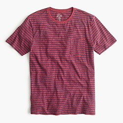 Slim flagstone pocket T-shirt in heather barn stripe