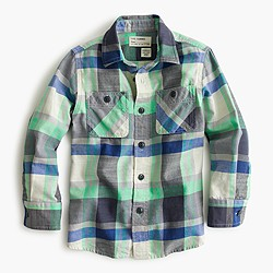 Boys' flannel shirt in multi plaid