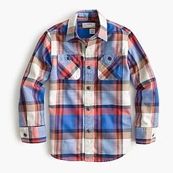 Boys' flannel shirt in multi plaid