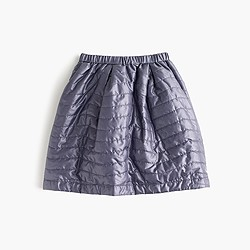 Girls' puffer skirt