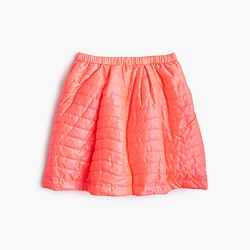 Girls' puffer skirt