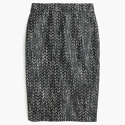 No. 2 pencil skirt in holographic tweed