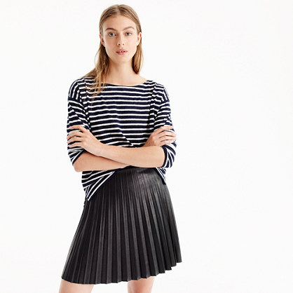faux leather pleated mini skirt mini j crew