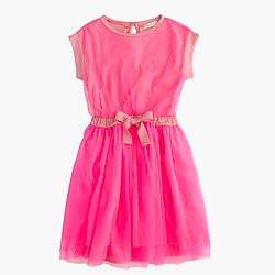 Girls' tulle dress with bow
