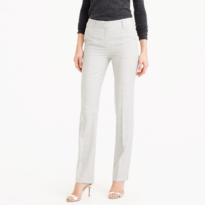 Petite Campbell trouser in Super 120s wool