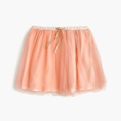 Girls' two-tone tulle skirt