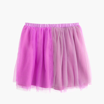 Girls' two-tone tulle skirt