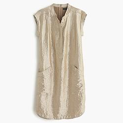 Soft lamé shirtdress