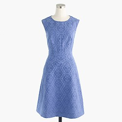 Petite textured eyelet jacquard dress