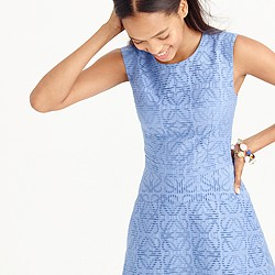Textured eyelet jacquard dress