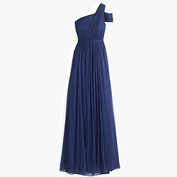 Cara long dress in silk chiffon