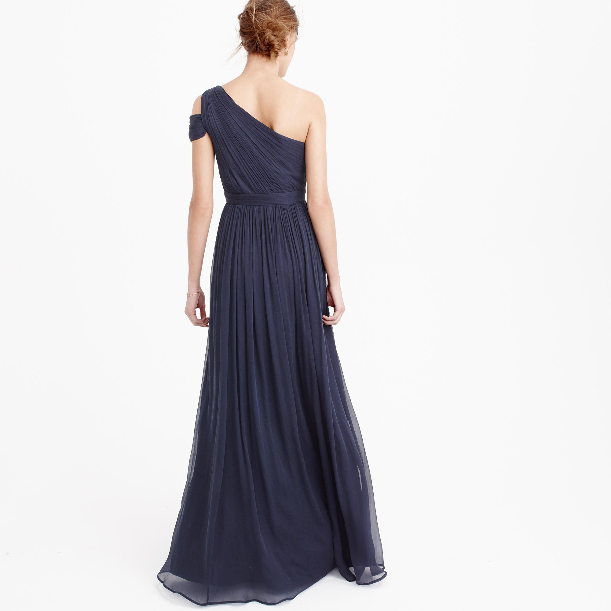 Cara long dress in silk chiffon :  J.Crew