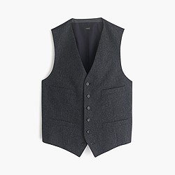 Ludlow suit vest in English Donegal tweed