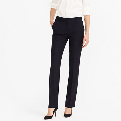 Tall Campbell trouser in pinstripe Super 120s wool