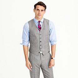 Ludlow suit vest in glen plaid American wool