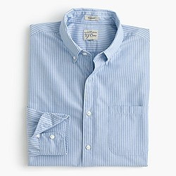 Secret Wash shirt in azure striped end-on-end cotton