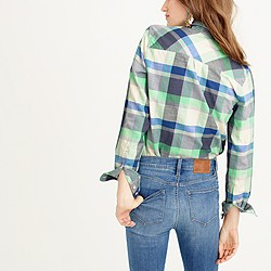 Flannel boyfriend shirt in pacey plaid