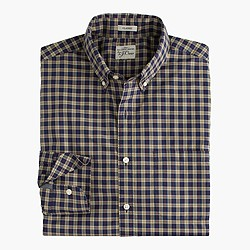 Secret Wash shirt in midnight sea tartan