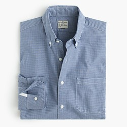 Slim Secret Wash shirt in mini-gingham