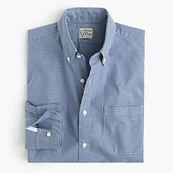 Secret Wash shirt in mini-gingham