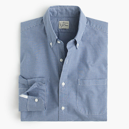 Secret Wash shirt in mini-gingham