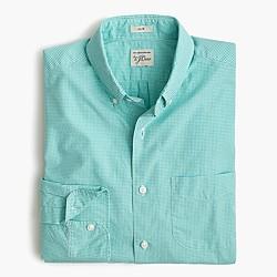 Slim Secret Wash shirt in mini-gingham