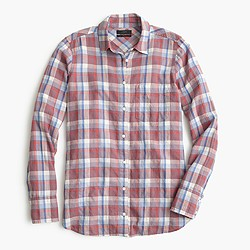 Boy shirt in dawson plaid