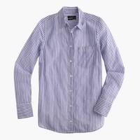 Boy shirt in blue skinny stripe