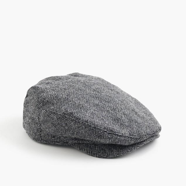 English wool driving cap