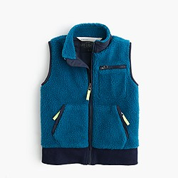 Boys' sherpa vest