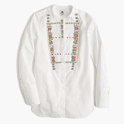 Collection Thomas Mason® for J.Crew crystal tux shirt