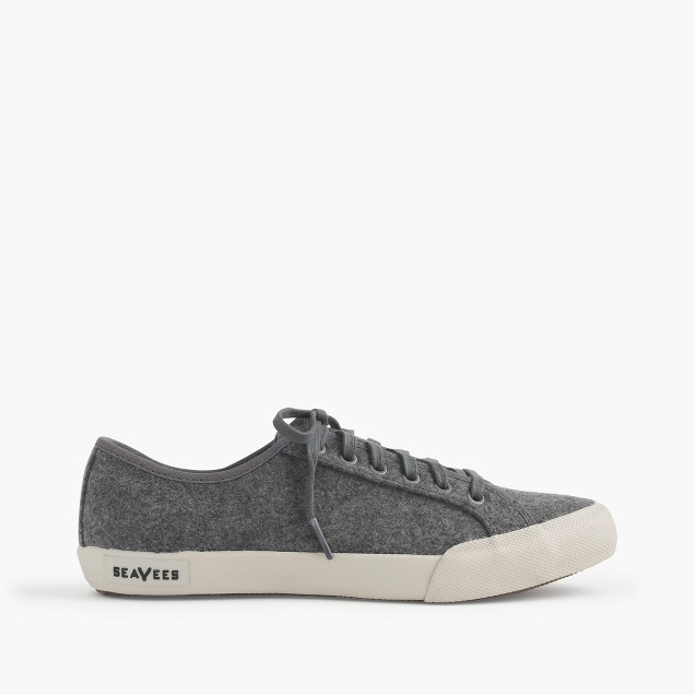 SeaVees® for J.Crew 06/67 Monterey sneakers in dark heather grey wool
