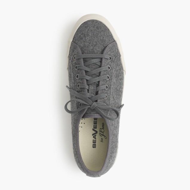 SeaVees® for J.Crew 06/67 Monterey sneakers in dark heather grey wool