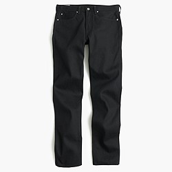 Wallace & Barnes straight black selvedge jean