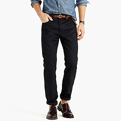 Wallace & Barnes straight black selvedge jean