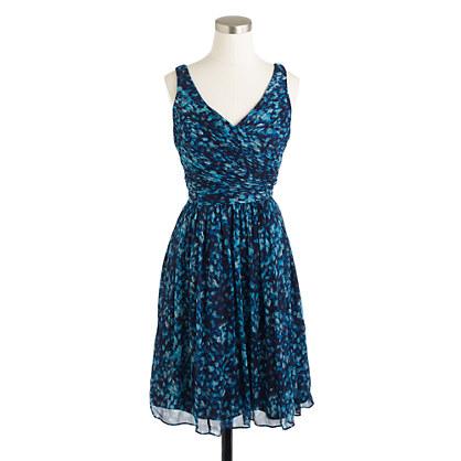 Heidi dress in watercolor silk chiffon