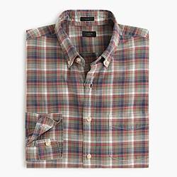 Slim vintage oxford shirt in arctic ocean plaid
