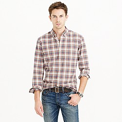 Slim vintage oxford shirt in arctic ocean plaid