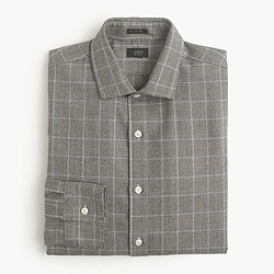 Ludlow wool shirt in prince of wales check