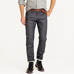 Wallace & Barnes slim grey selvedge jean