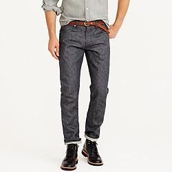 Wallace & Barnes slim grey selvedge jean